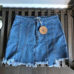 Honey Punch NWT Denim Skirt